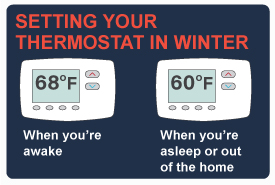 Setting your thermostat during the winter