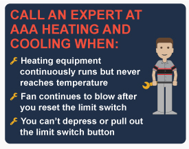 When to call AAA Heating and Cooling