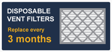 Disposable Filters Replace Every 3 Months Call Out