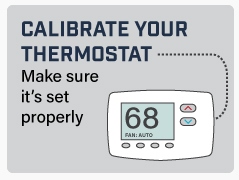 calibrate your thermostat illustration