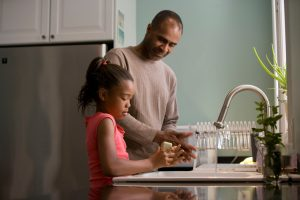 father-and-daughter-in-kitchen