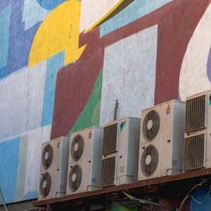 Commercial Air Conditioning Units on a building